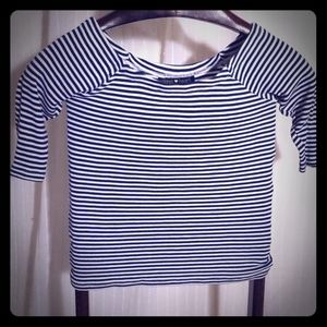 5/$20** Derek Heart Striped Crop Top